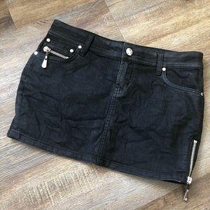 NVM|9 by Christian Audigier black mini skirt